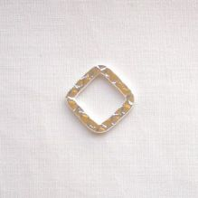 Silver Plated Hoops 12mm Square - 12